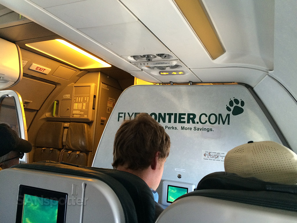 Frontier Airlines A319 Stretch seat Denver to San Diego