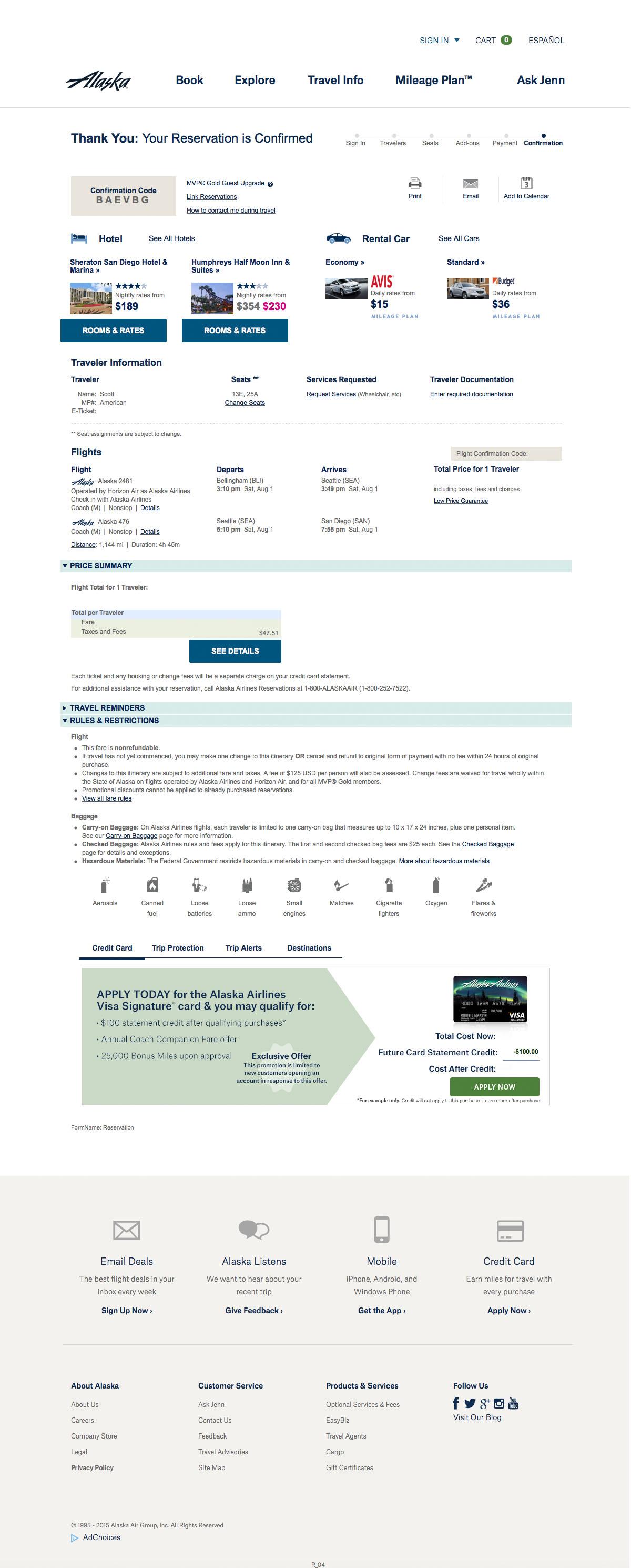 airline alaska reservation