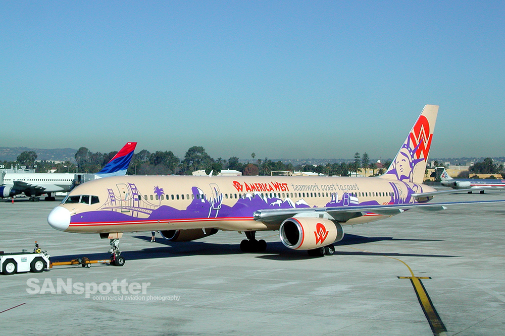 America West 757-200 Teamwork Coast to Coast Livery