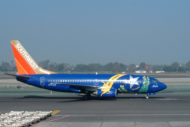 Southwest Airlines 737-700 Nevada One Livery