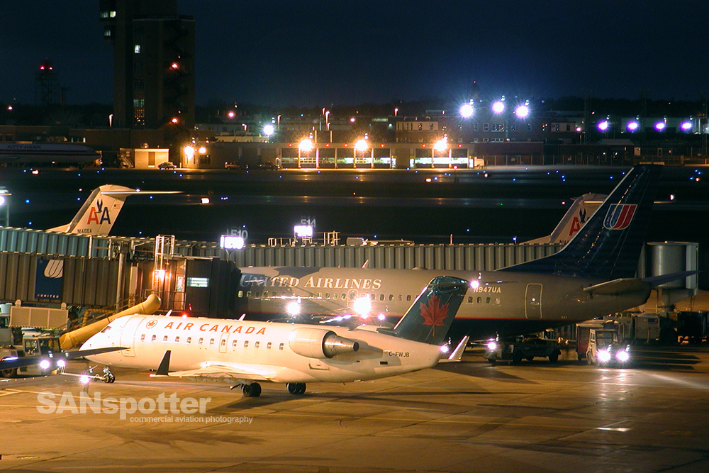 MSP Terminal B at Night