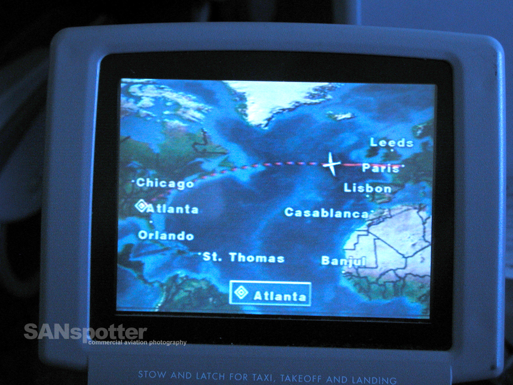 transatlantic in-flight map
