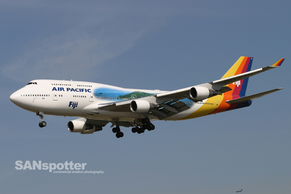 Air Pacific 747-400 Island of Viti Levu Livery