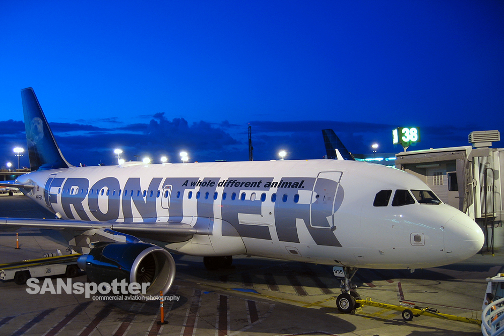 Frontier A319 N935FR SAN