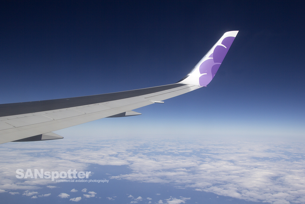 Hawaiian Airlines 767-300 In Flight Window View