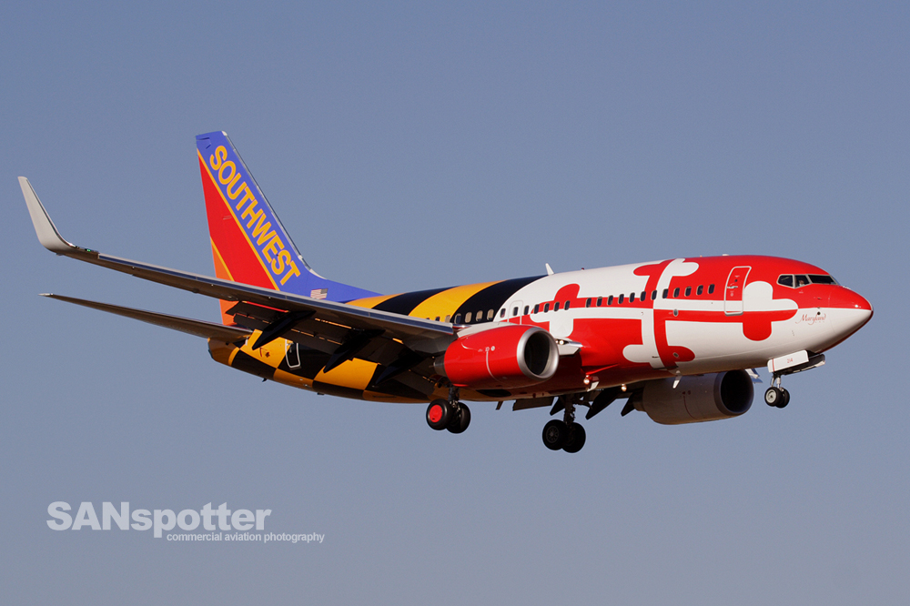 Southwest Airlines 737-700 Baltimore Livery