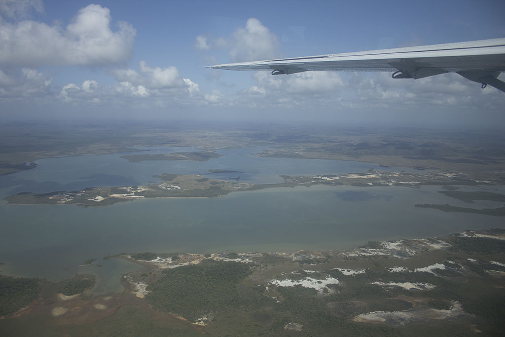 The view from the air as we make our way to Belize City