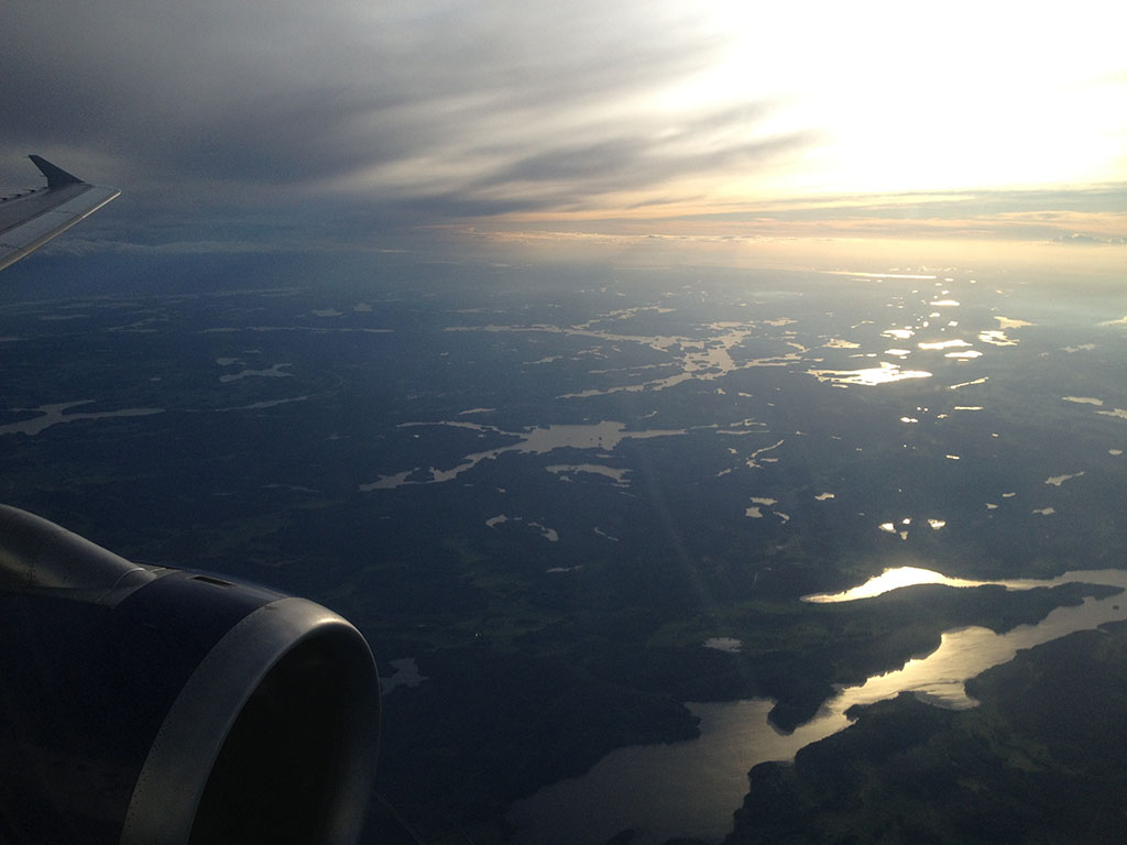 About 30 minutes southwest of Stockholm Arlanda