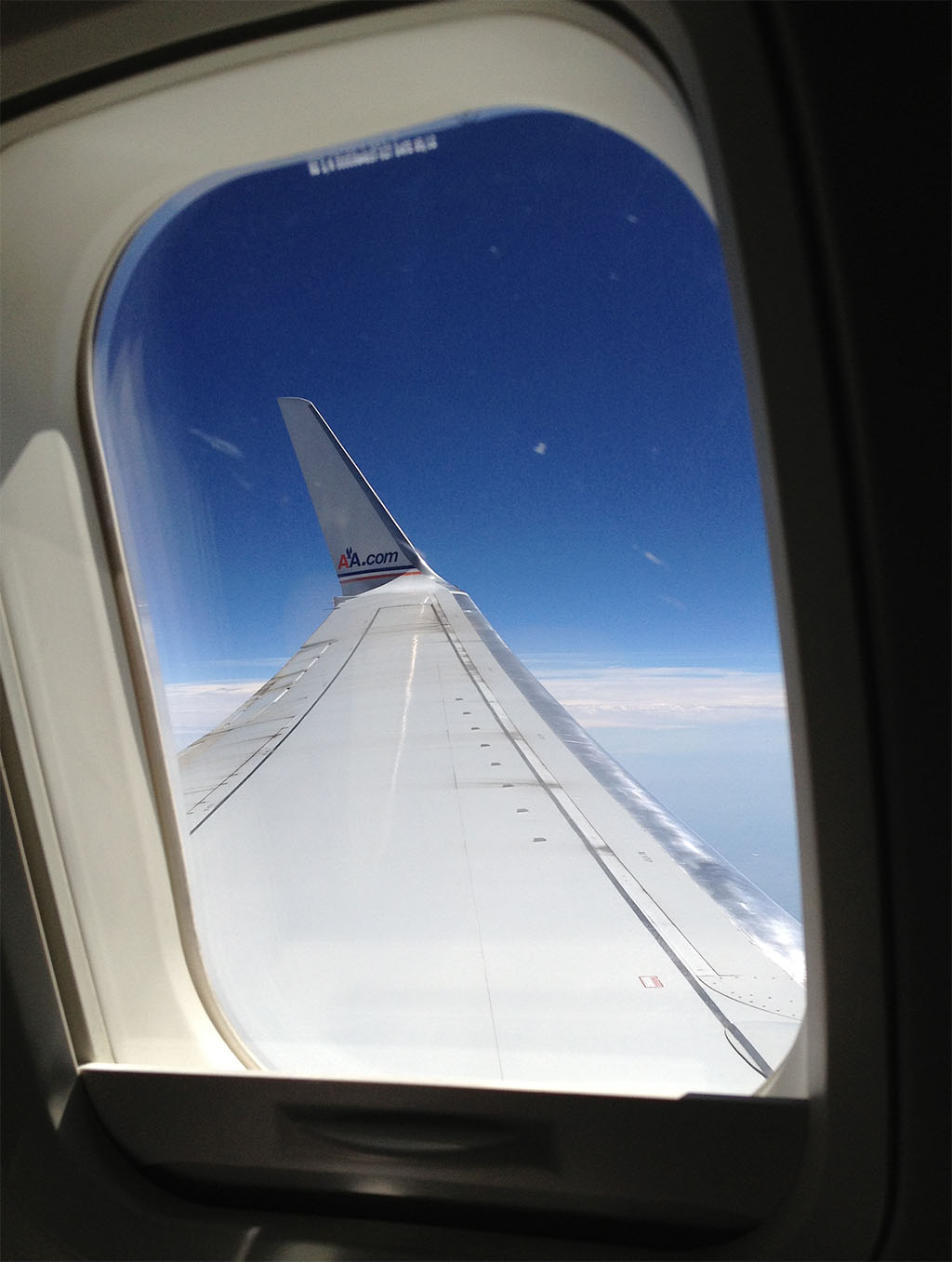 wing and winglet on this American Airlines 737-800