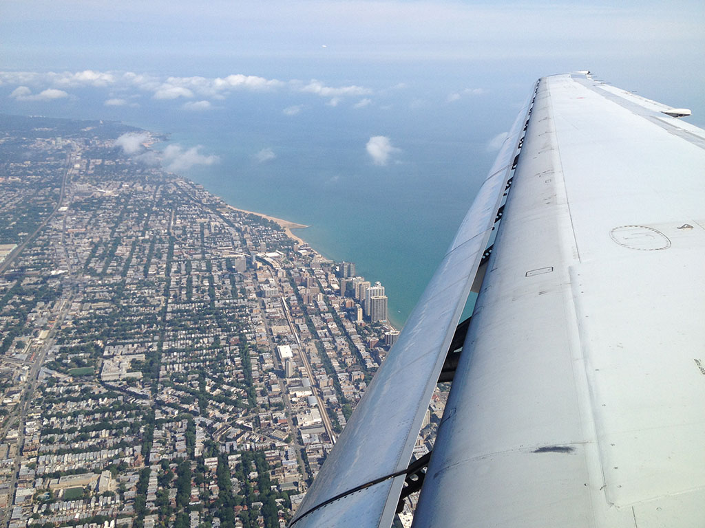 approaching ohare international airport