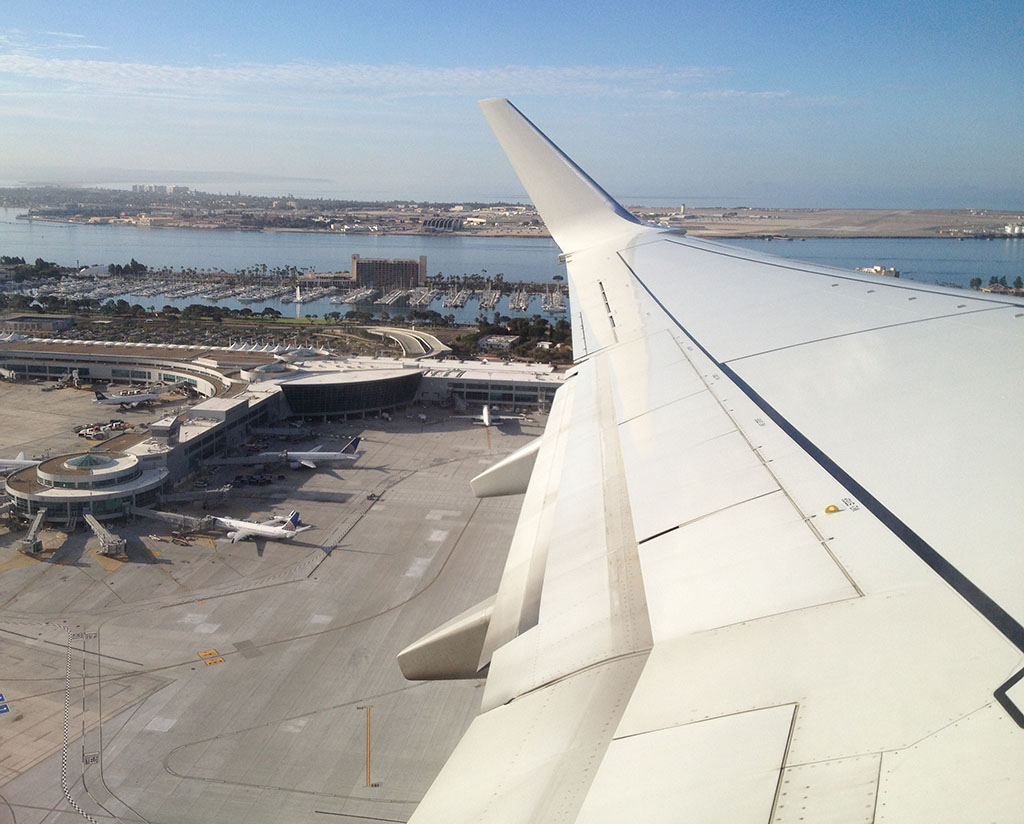 terminal overview of T2 West at SAN