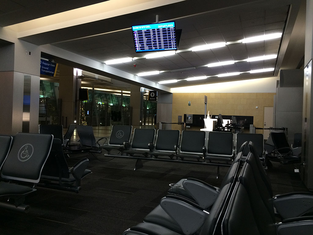 empty gate area