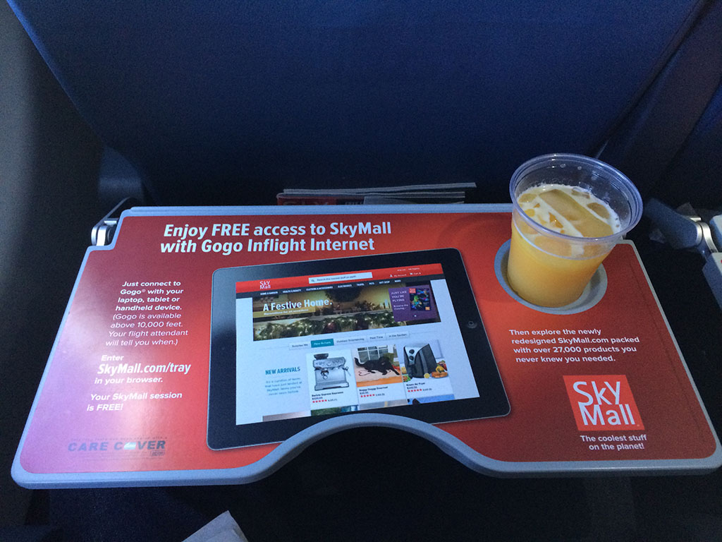 tray table advertising