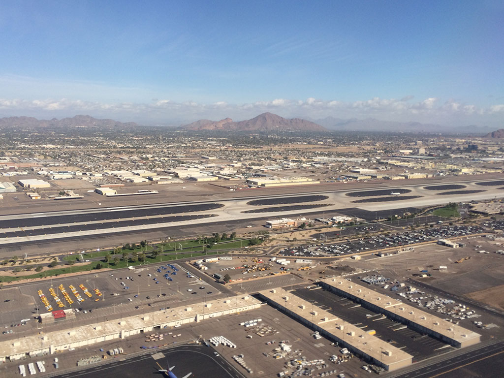 view of runway 8 at PHX