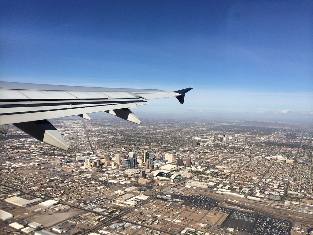 climbing out of PHX