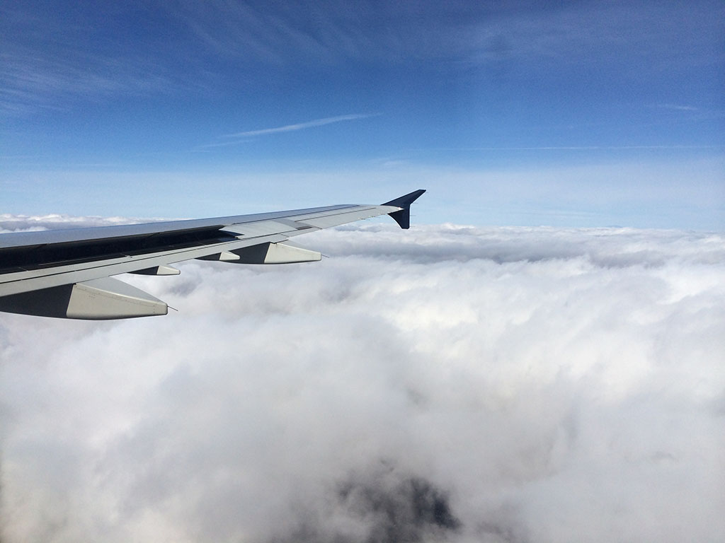 cloudy wing view