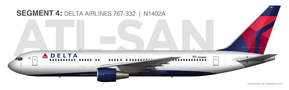 Delta Airlines 767-300 N1402A