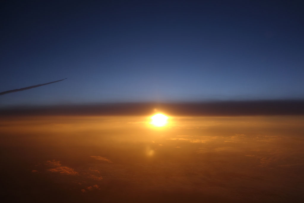 sunset from 36000ft