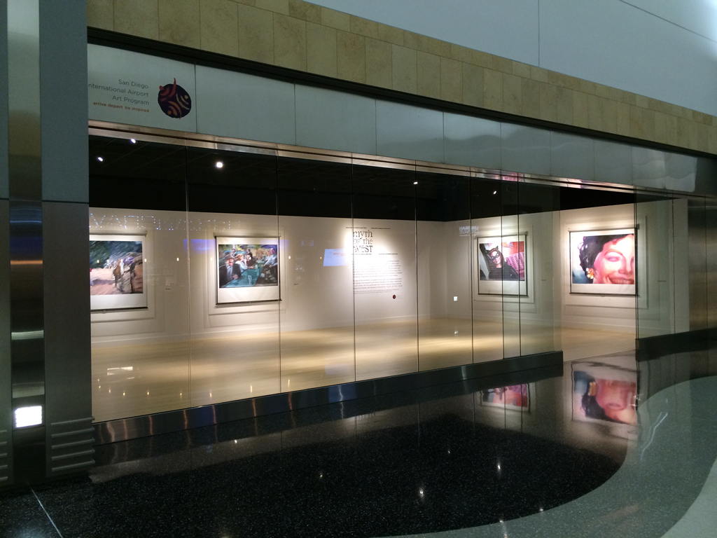 art gallery in the terminal