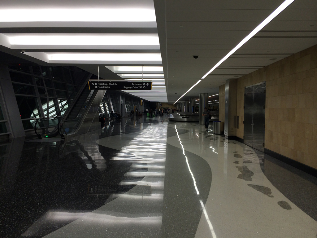 The new Delta Airlines baggage claim at SAN