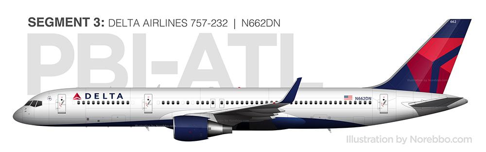 N662DN delta 757
