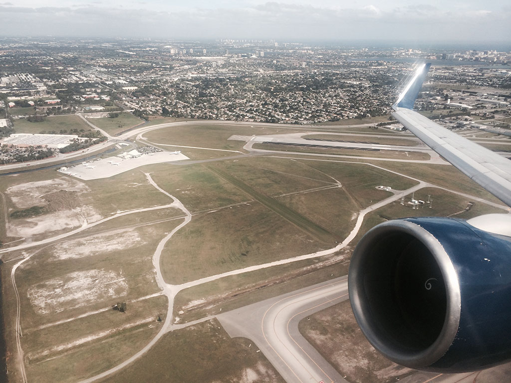 take off from West Palm Beach