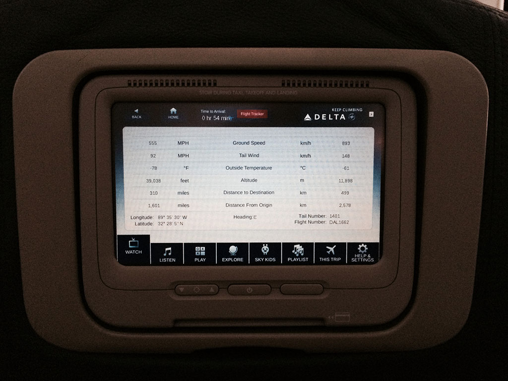 in flight entertainment screen