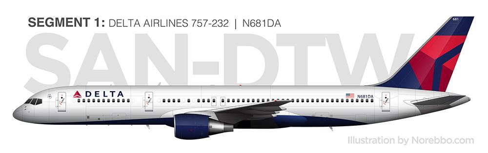N681DA delta 757