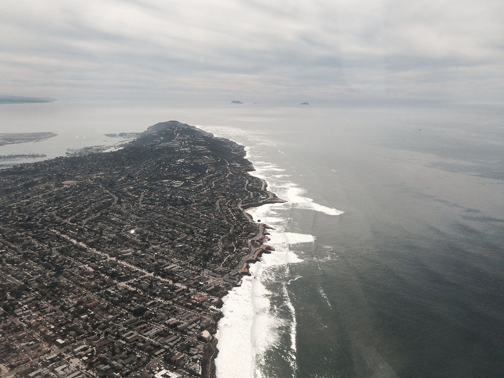 view of point loma from the air