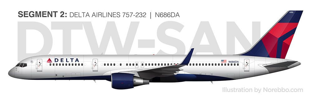 N686DA delta 757