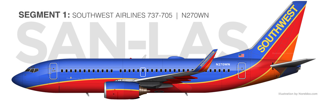 Southwest Airlines 737-700 N270WN illustration