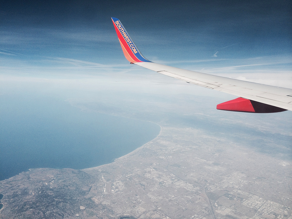 overflying Los Angeles