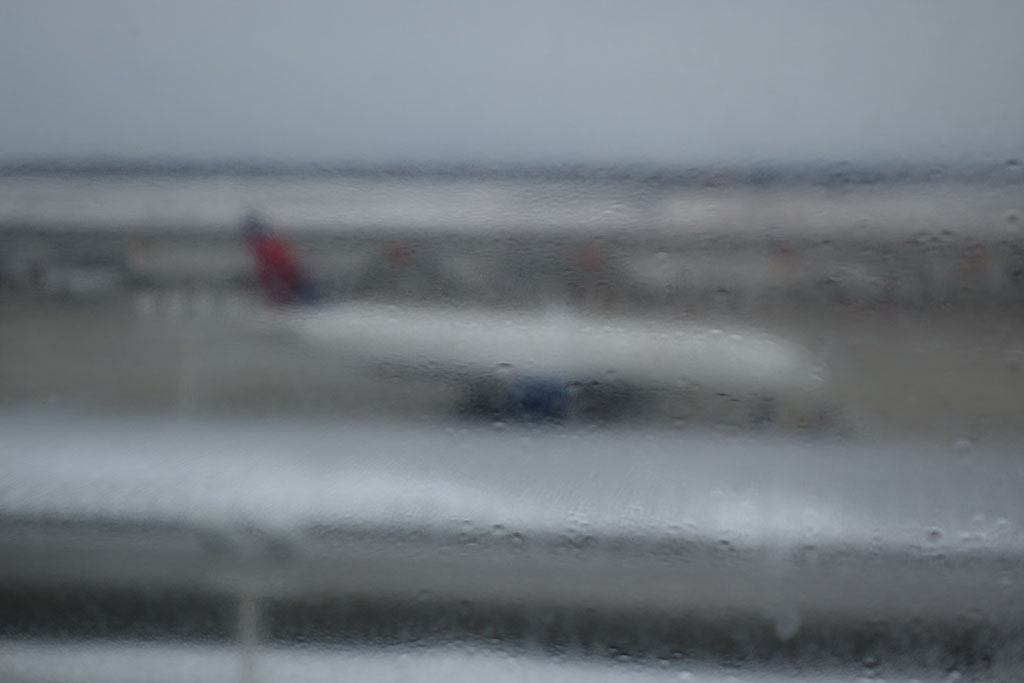 view of the aircraft from the DTW westin