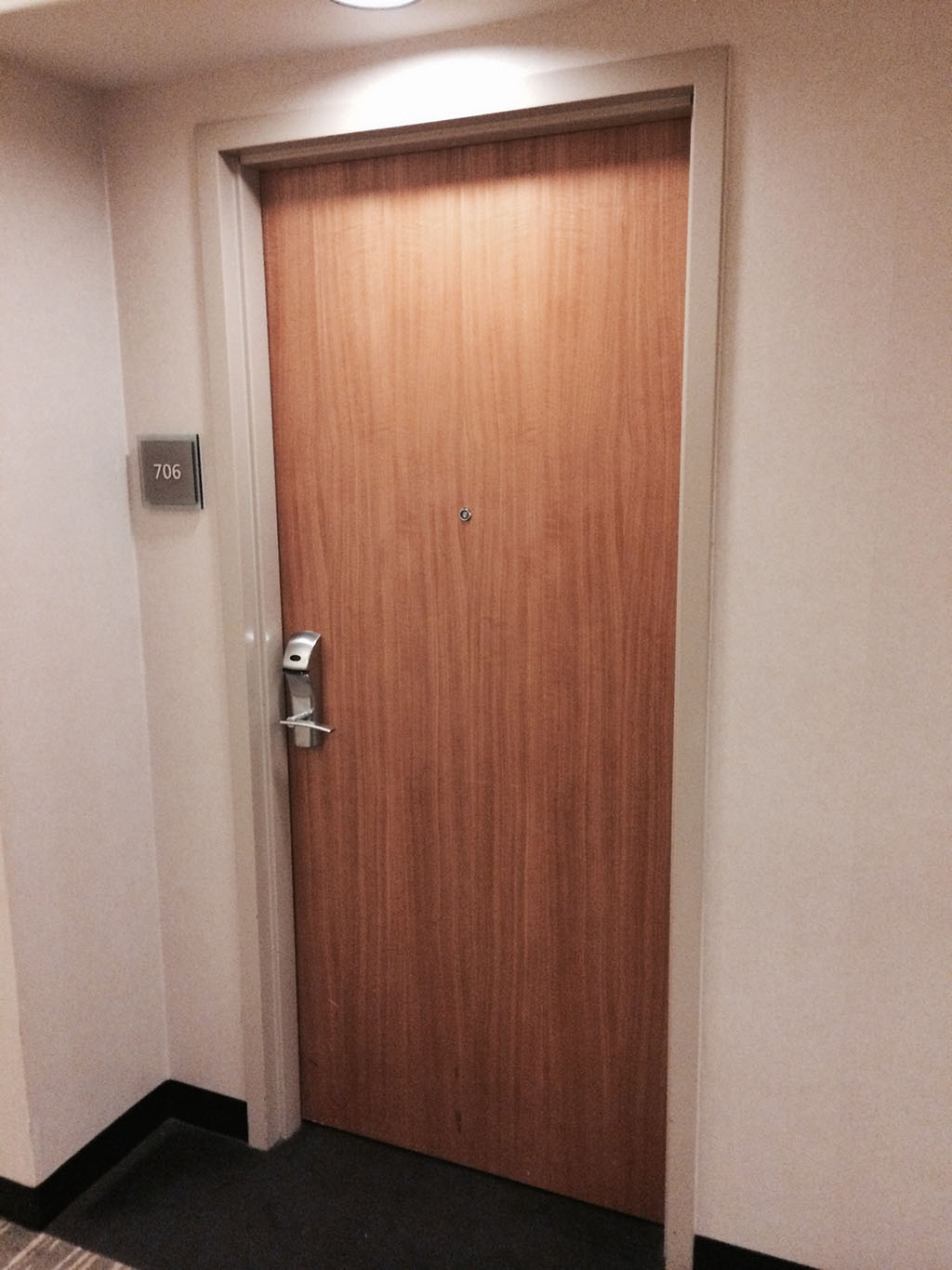 room door at the westin DTW