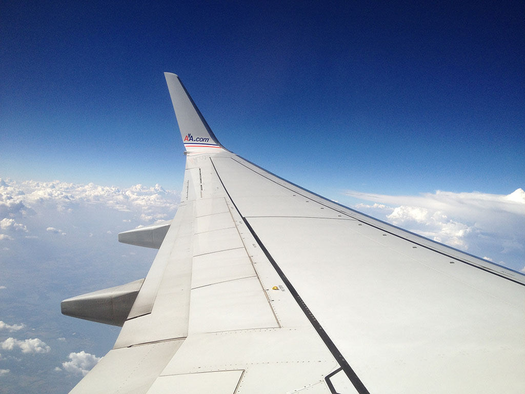 in flight photo