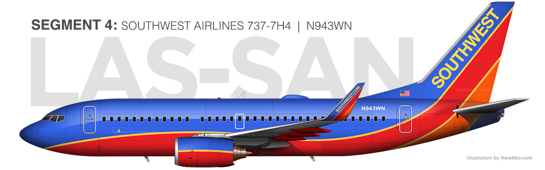 Southwest Airlines 737-700 N943WN illustration
