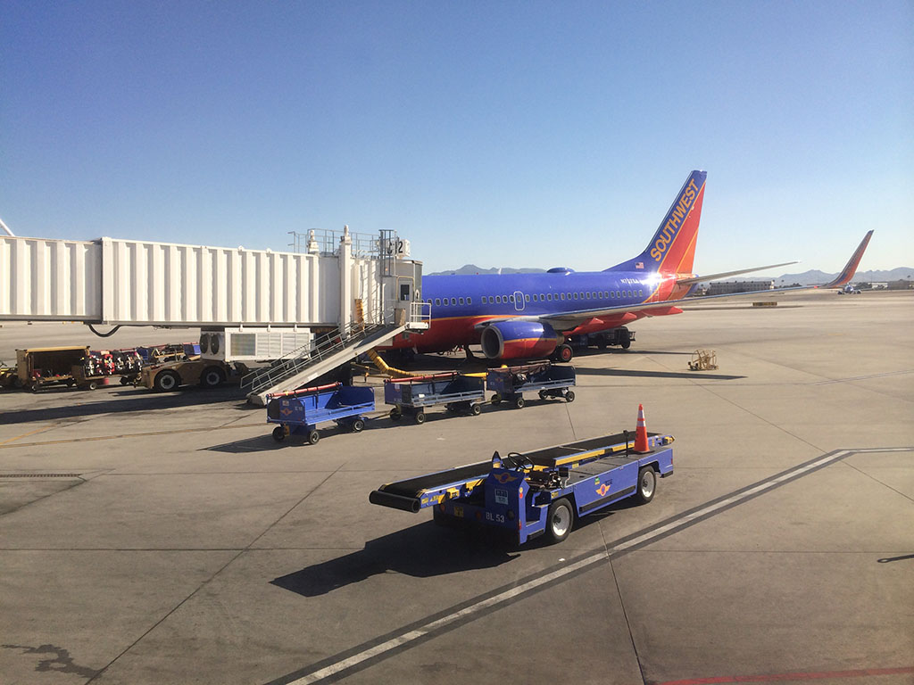 Southwest Airlines 737-700 at LAS