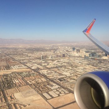 Awesome view of the Las Vegas strip from the air