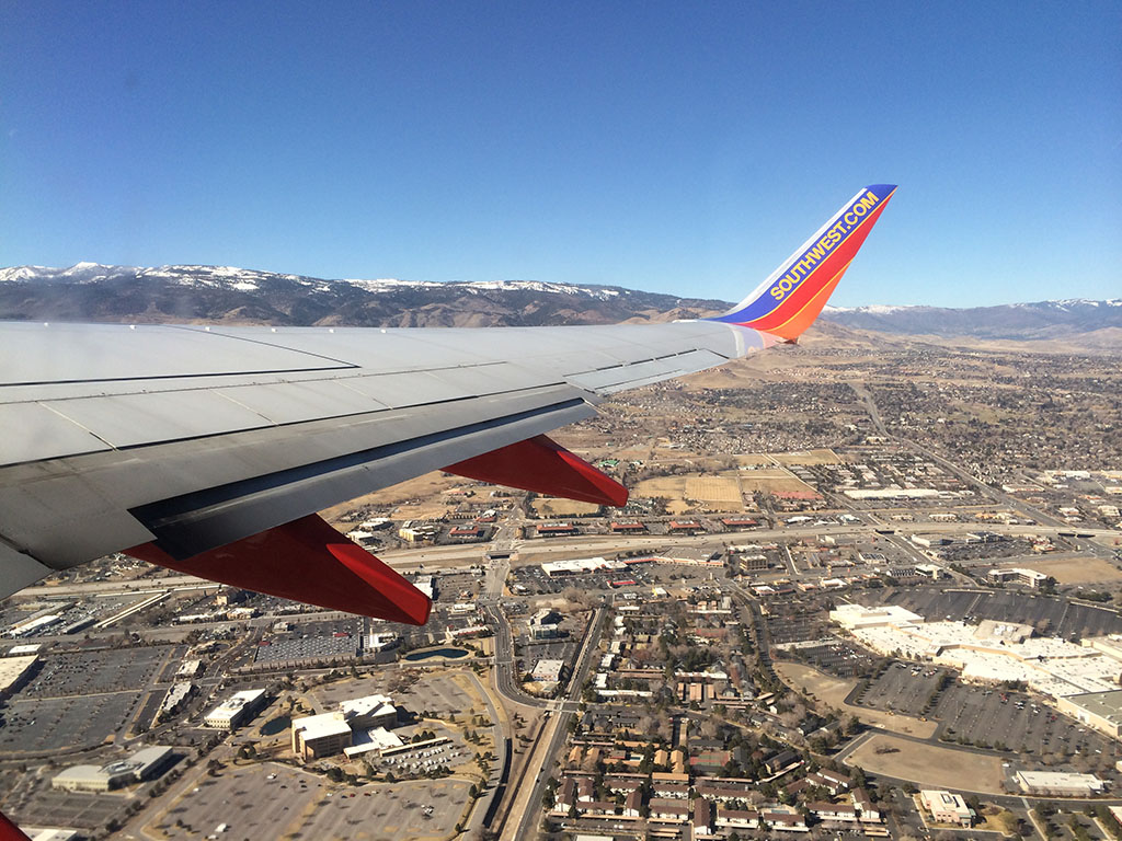 view of reno nevada from the air