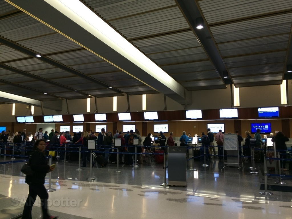 UA check in counters at SAN