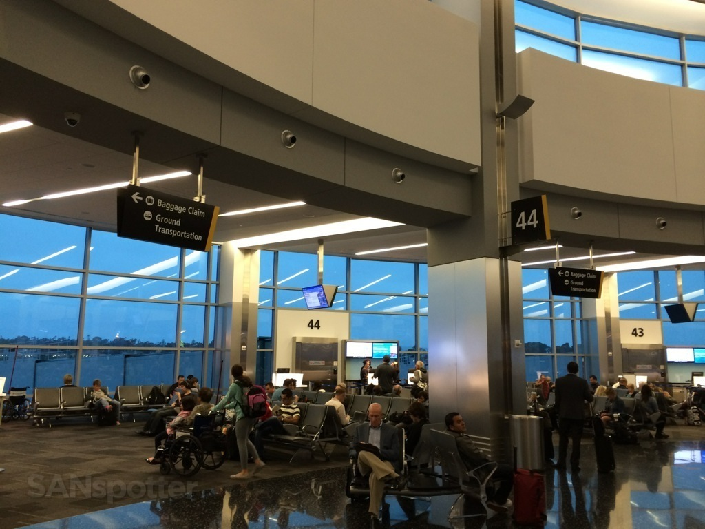 gate 44 in terminal 2 at san diego international airport