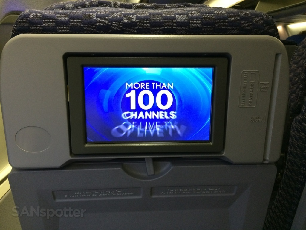 United Airlines Direct TV 737-800