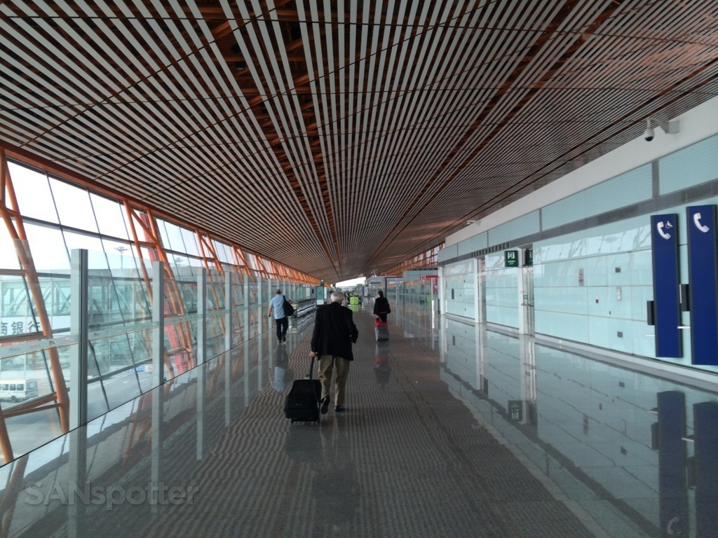 walking inside beijing airport