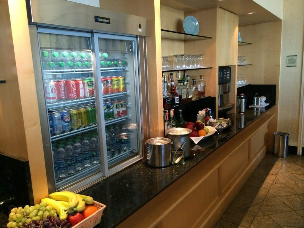 global first lounge self serve beverages