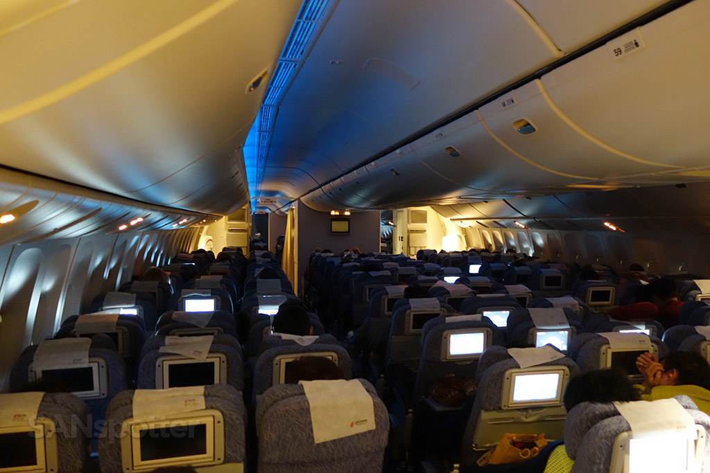 Air China 777-300 economy class cabin