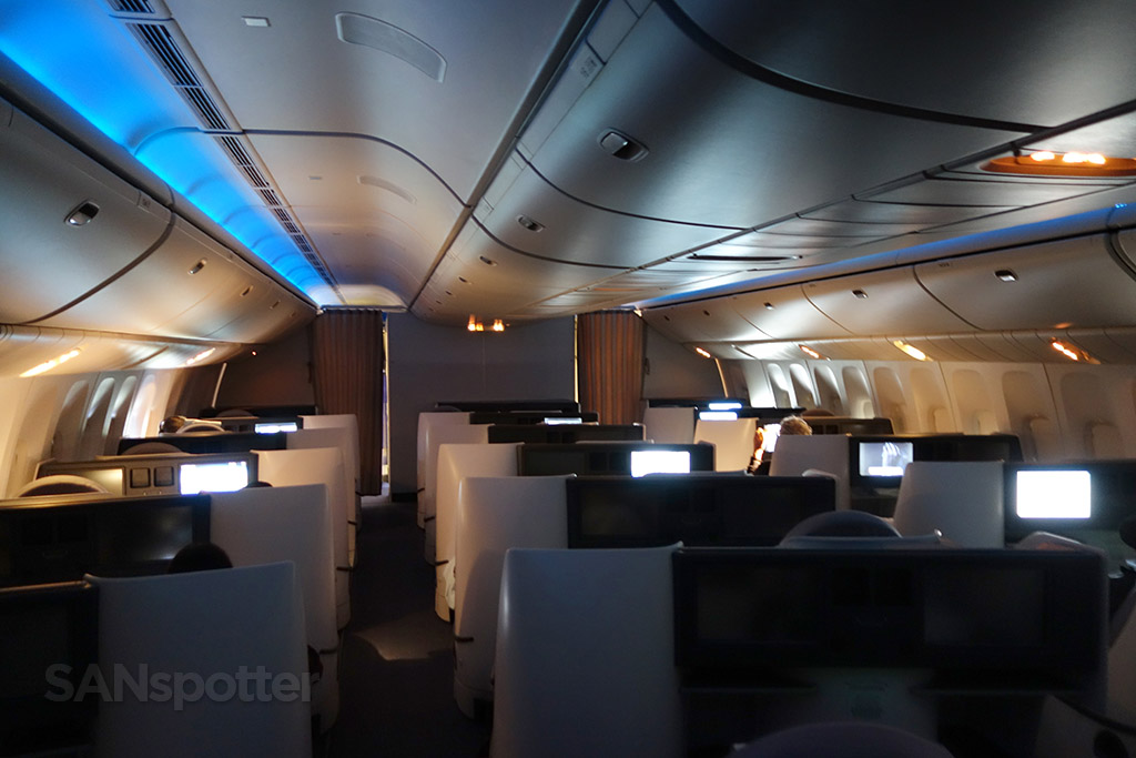 Air China 777-300 business class cabin