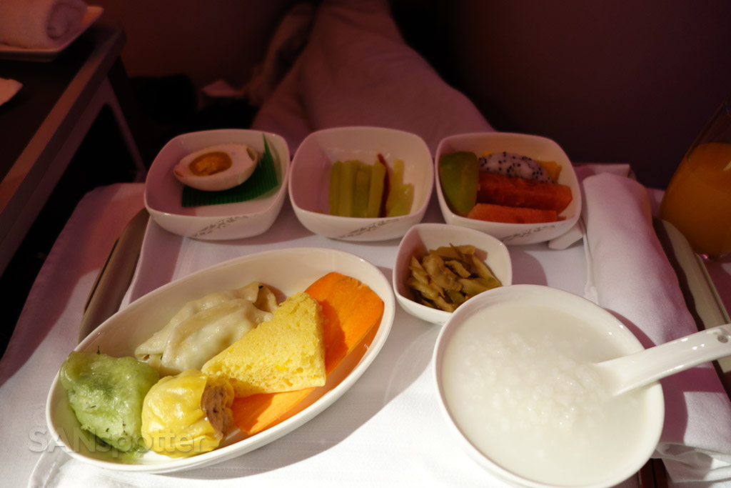 chinese breakfast air china business class