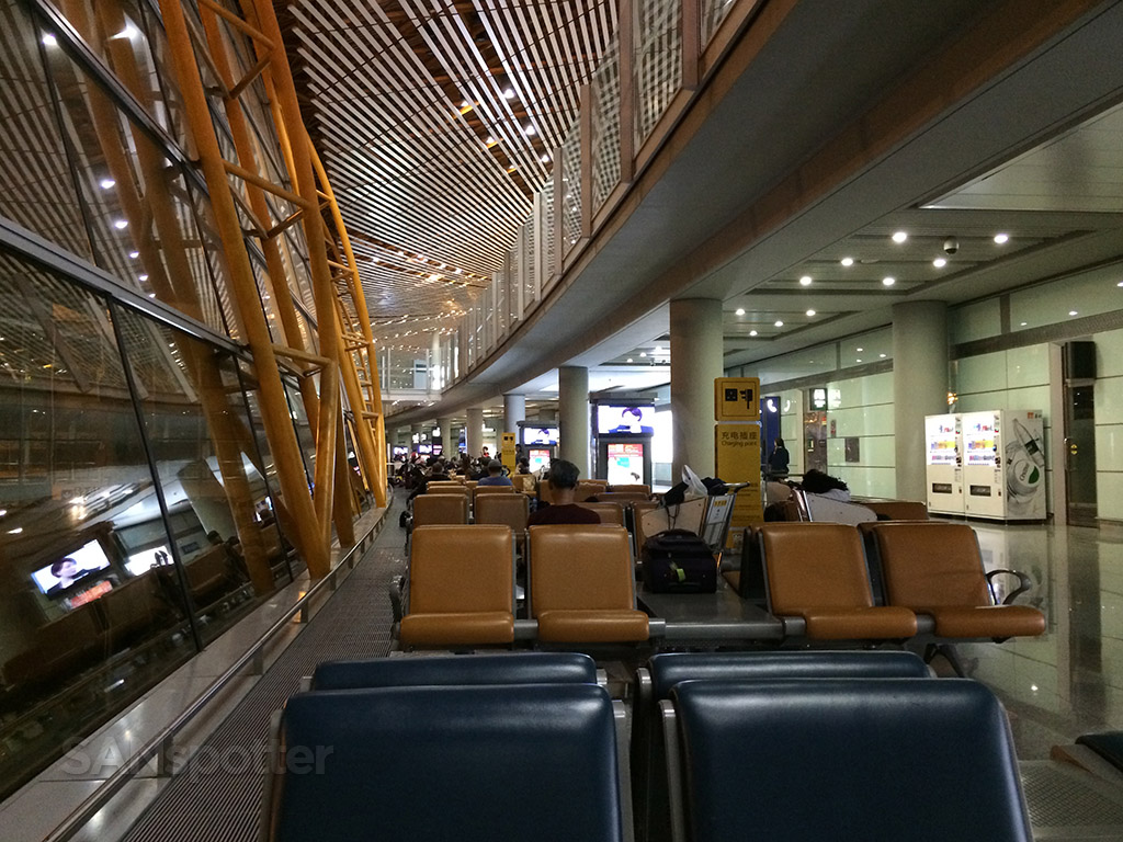 terminal E seating area PEK airport
