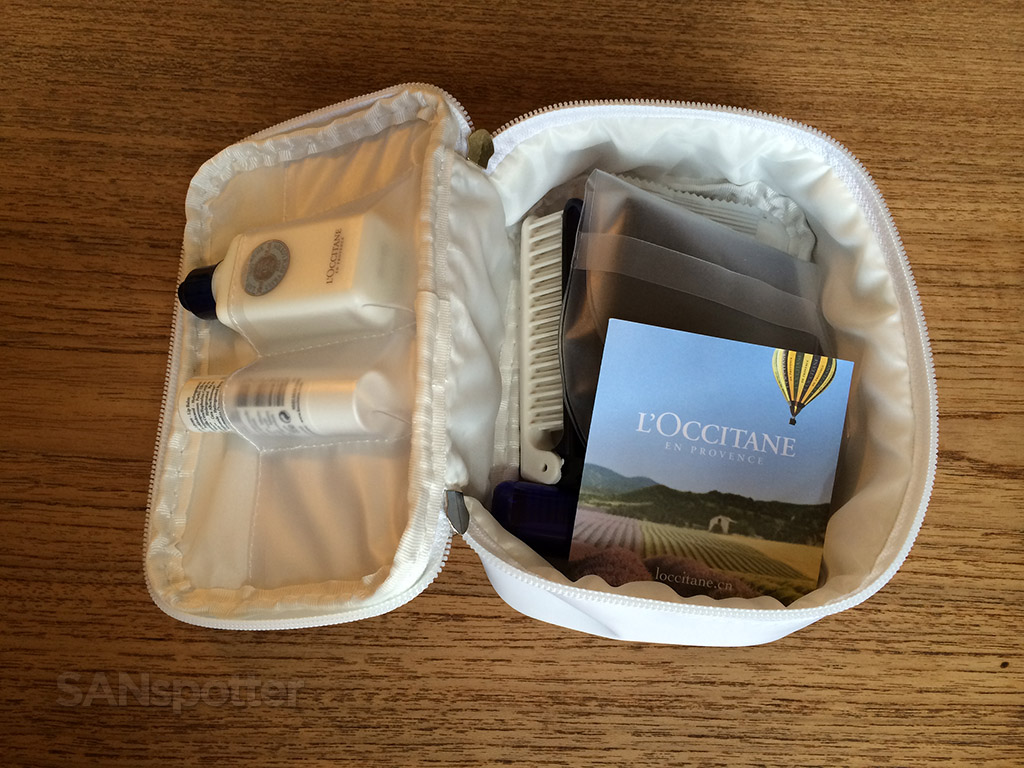 amenity kit inside