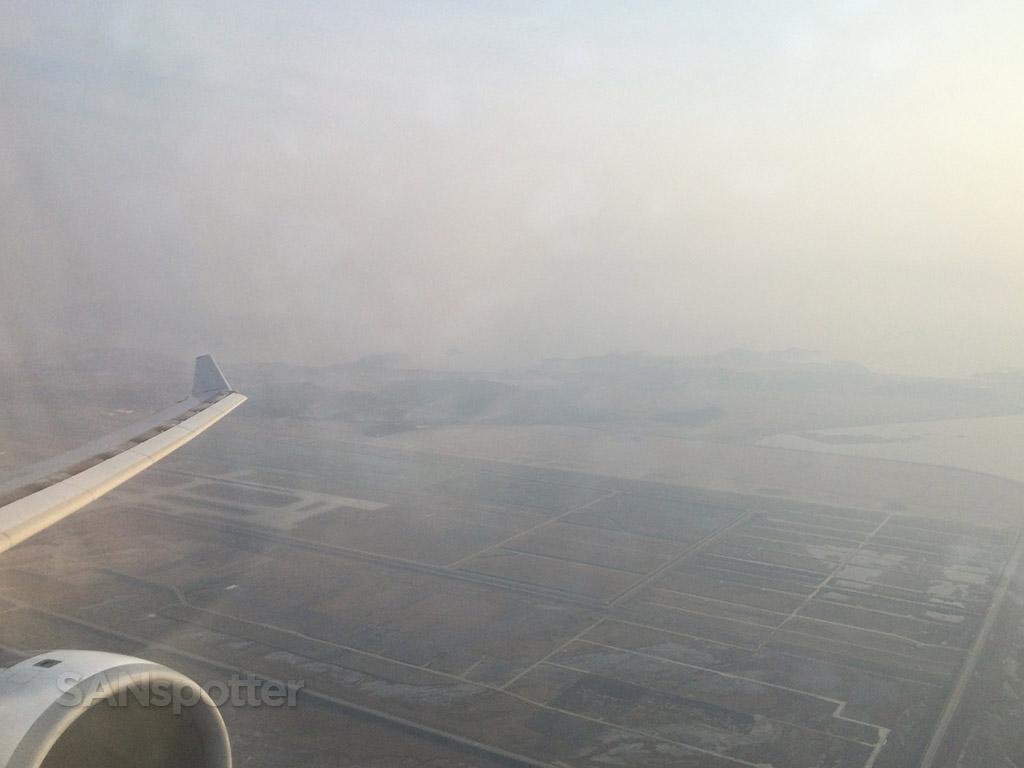 hazy incheon airport departure
